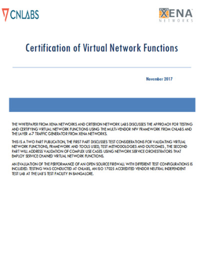 virtual network functions certification
